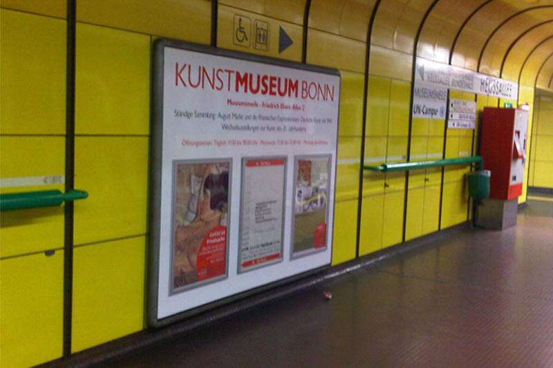 Dauerwerbung U-Bahn Bonn