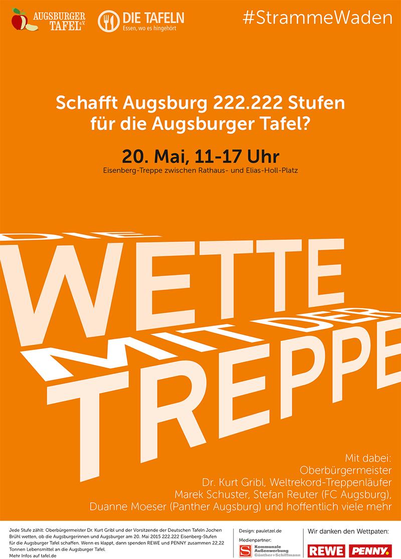 Die Wetter mit der Treppe -- Augsburger Tafel - Plakat