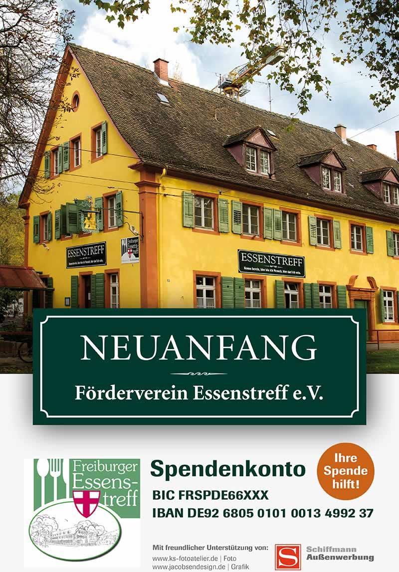 Förderverein Essenstreff Freiburg Plakat