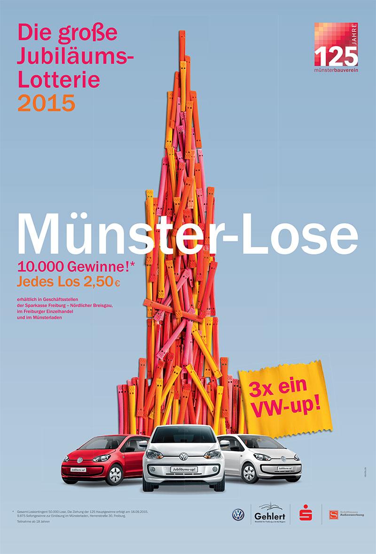 Plakat: Lotterie Freiburger Münsterbauverein
