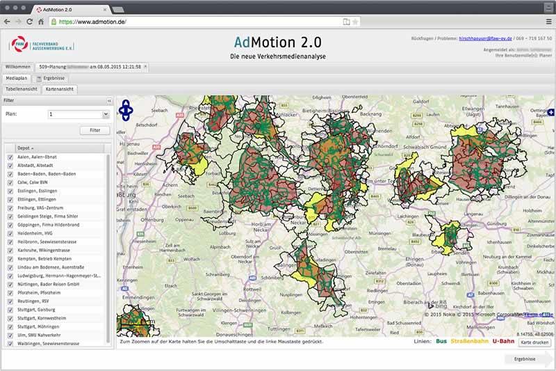 Screenshot AdMotion 2.0