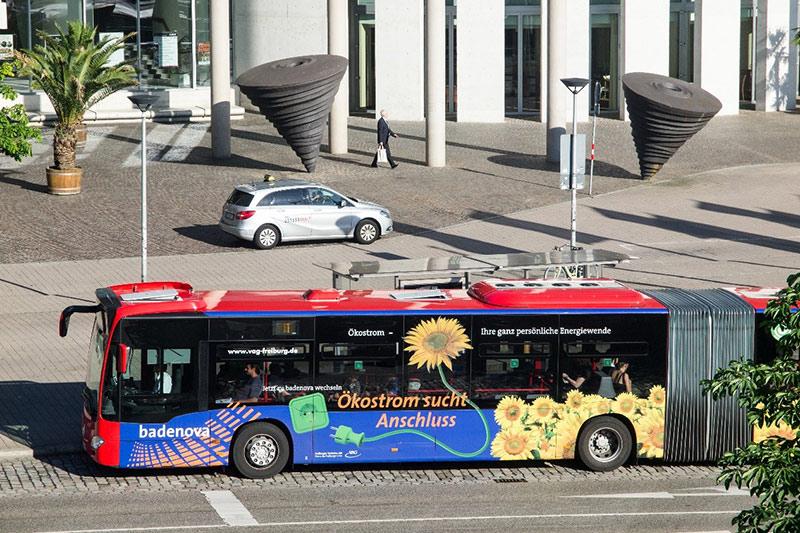 Buswerbung in Freiburg