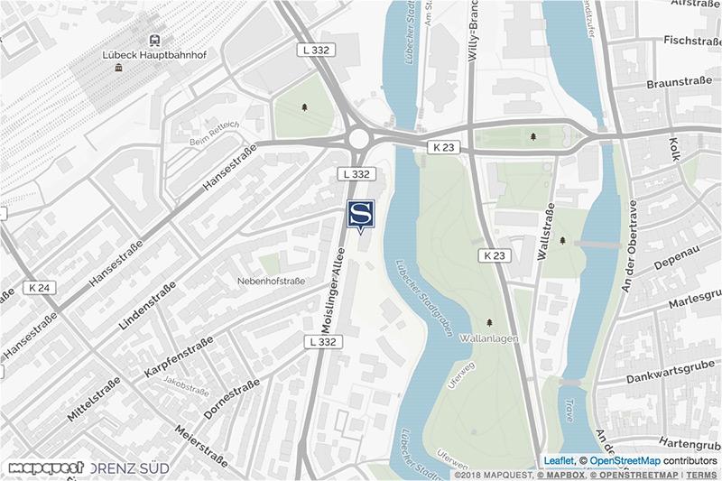 Lübeck Standortkarte
