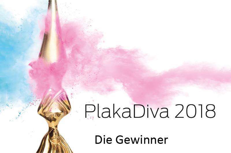 Plakat der Preisverleihung Plakadiva 2018