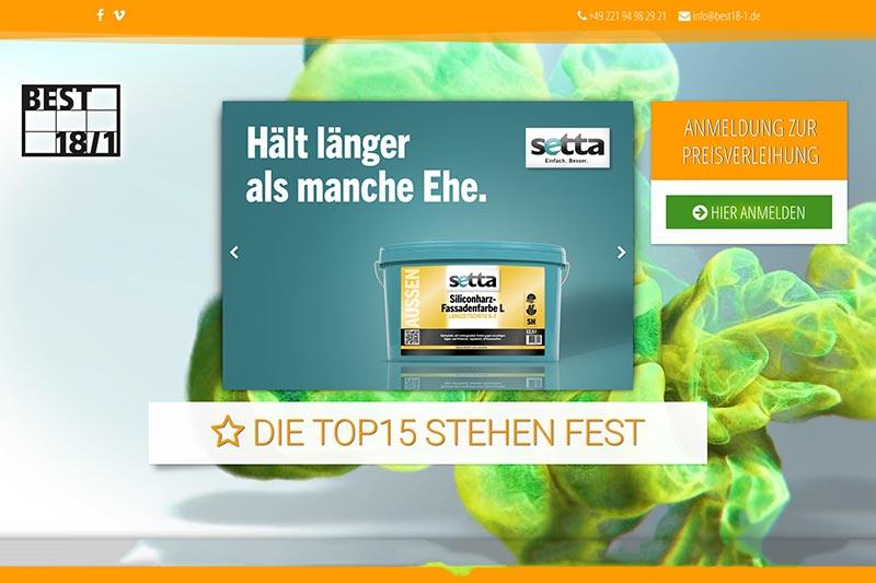 BEST 18/1 website screenshot