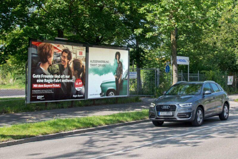 Plakatwerbung in Augsburg